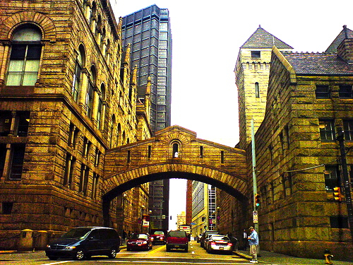 photo of the bridge of sighs, Pittsburgh.