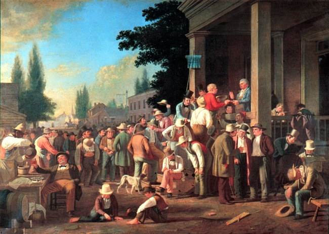 county election, George Caleb Bingham, 1850