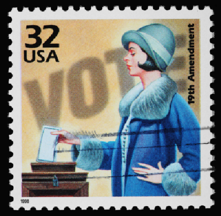 commemorative stamp for 19th Amendment to U.S. Constitution